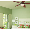 Harbor Breeze Battler 52-in Bronze Downrod Mount Ceiling Fan LED with Light Kit and Remote