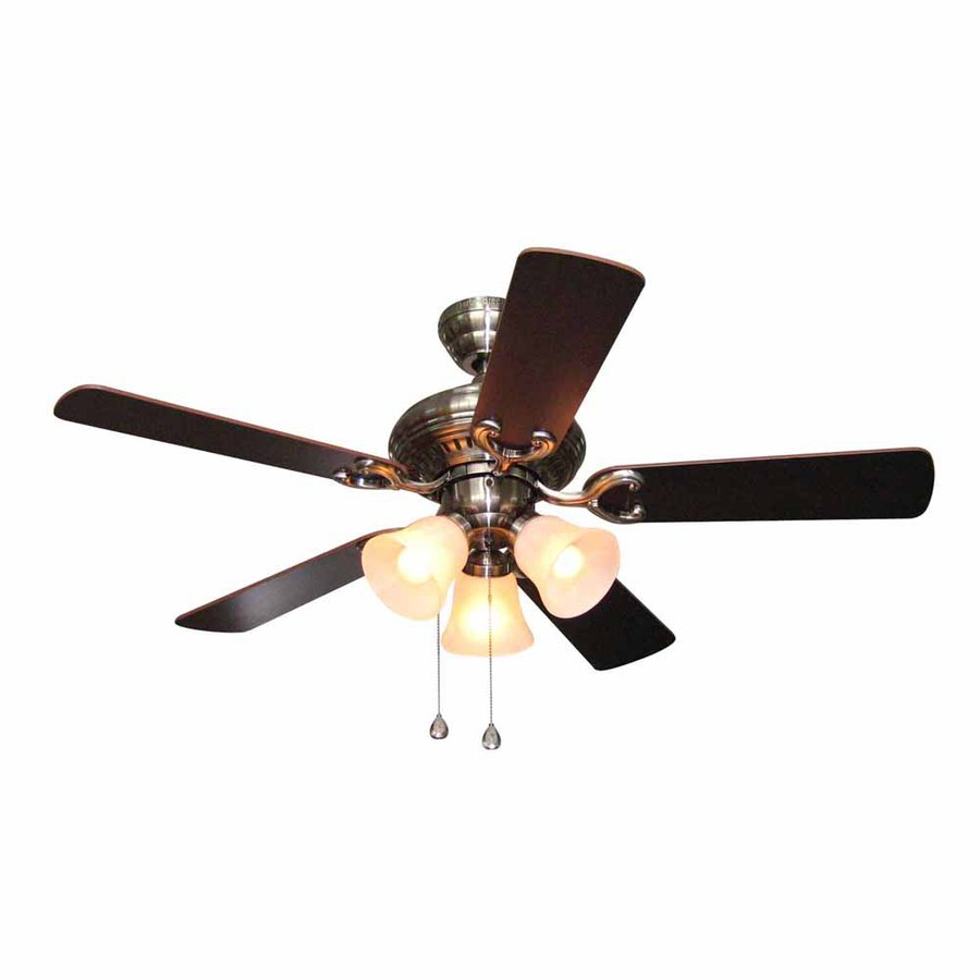 breeze 44 in polished pewter ceiling fan with light kit at. Black Bedroom Furniture Sets. Home Design Ideas