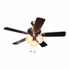 Harbor Breeze 44-in Polished Pewter Ceiling Fan with Light Kit