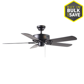 Harbor Breeze Classic 52-in Matte Black Downrod or Close Mount Indoor Ceiling Fan