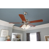 Harbor Breeze Springfield II 52-in Brushed Nickel Downrod or Close Mount Indoor Ceiling Fan with Light Kit