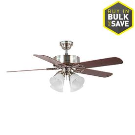 Harbor Breeze 52-in Brushed Nickel Ceiling Fan with Light Kit