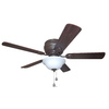 Harbor Breeze Mayfield 44-in Flush Mount Indoor Ceiling Fan with Light Kit