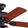 Harbor Breeze Springfield II 52-in Matte Black Downrod or Close Mount Ceiling Fan with Light Kit