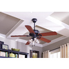 Harbor Breeze Springfield Ii 52-in Matte Black Downrod or Close Mount Indoor Ceiling Fan with Light Kit