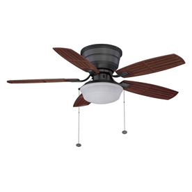 Litex 44-in Natural Iron Outdoor Ceiling Fan with Light Kit
