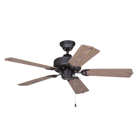 Litex 42-in All Weather Matte Black Outdoor Ceiling Fan