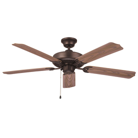 Litex All Weather 52-in Aged Bronze Downrod or Flush Mount Ceiling Fan