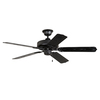 Litex 52-in All Weather Matte Black Outdoor Ceiling Fan