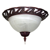 Harbor Breeze 2-Light Copperstone Ceiling Fan Light Kit with Alabaster Bowl Shade