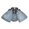 Harbor Breeze 3-Light Brushed Nickel A-15 Frosted Candelabra Base Ceiling Fan Light Kit