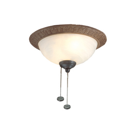 Harbor Breeze 2-Light Antique Bronze Ceiling Fan Light Kit with Bowl Glass or Shade