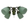 Harbor Breeze 4-Light Antique Brass A-15 Frosted Candelabra Base Ceiling Fan Light Kit
