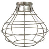 Portfolio 8.38-in H x 8.38-in W Brushed Nickel Metal Mix and Match Mini Pendant Light Shade