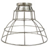 Portfolio 7-in H x 9-in W Brushed Nickel Metal Mix and Match Mini Pendant Light Shade