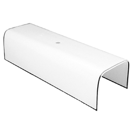 Litex 12&#034; Neck  Frosted Channel Glass