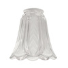 Harbor Breeze 4-3/4-in Frosted Clear Vanity Light Glass