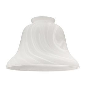 Harbor Breeze 6-in Alabaster Vanity Light Glass