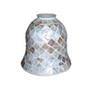 Portfolio 4-3/4-in Mosaic Finish Vanity Light Glass