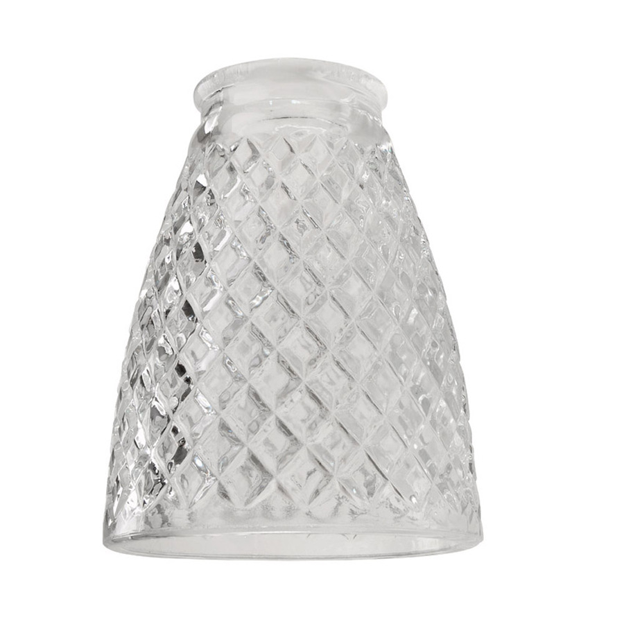 Shop Harbor Breeze 4-3/4-in Clear Vanity Light Glass at Lowes.com