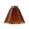 Harbor Breeze 5-in Antique Brass Vanity Light Glass