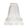 Harbor Breeze 5-in Clear Frosted Vanity Light Glass