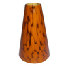 Portfolio 7-1/2-in H x 5-3/8-in W Amber Lava Glass Mini Pendant Shade
