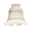 Harbor Breeze 5-1/4-in White Vanity Light Glass