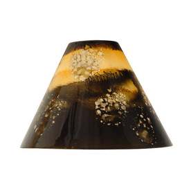 Portfolio 4-1/4-in H x 6-in W Canyon Brown Glass Mini Pendant Shade