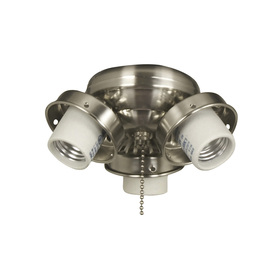 Harbor Breeze 4-Light Brushed Chrome Ceiling Fan Light Kit