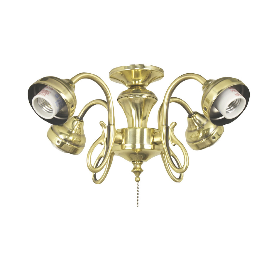Breeze 4 light burnished brass ceiling fan light kit with shade not