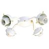 Harbor Breeze 4-Light Textured White A-15 Medium Base Ceiling Fan Light Kit