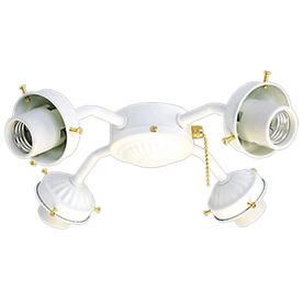 Harbor Breeze 4-Light White A-15 Medium Base Ceiling Fan Light Kit