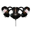 Litex 4-Light Aged Bronze Ceiling Fan Light Kit with Shade Not Included Glass or Shade