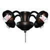 Litex 4-Light Aged Bronze A-15 Frosted Candelabra Base Ceiling Fan Light Kit