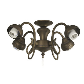 Harbor Breeze 4-Light Moroccan Gold A-15 Medium Base Ceiling Fan Light Kit