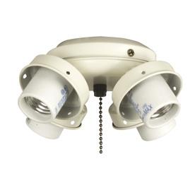 Litex 4-Light Bone Ceiling Fan Light Kit