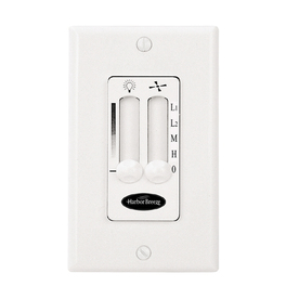 Harbor Breeze White 3-Speed Slide Combination Fan and Light Control