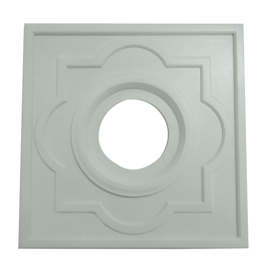 Ceiling Rosettes At Lowe S : Shop portfolio white ceiling fan medallion at lowes