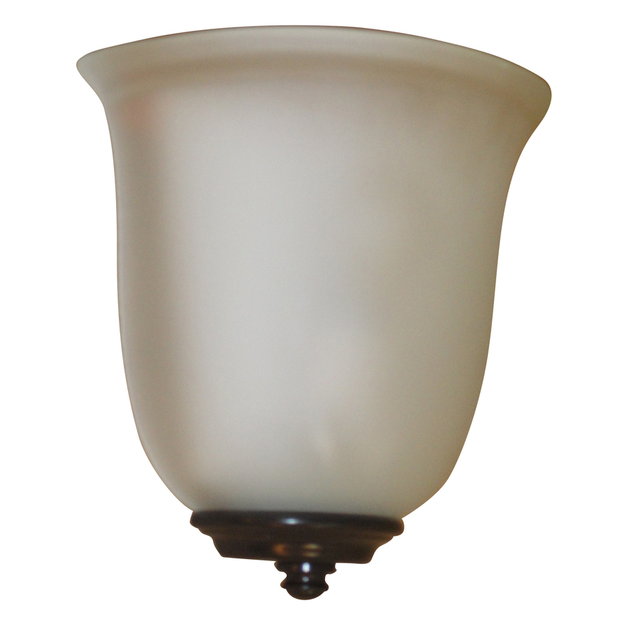 Shop portfolio 8 5 in w 1 light bronze pocket battery operated wall sconce at - Battery operated wall light sconces ...