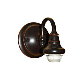 Shop Portfolio Sconce 5.375-in W 1-Light Bronze Arm Hardwired Wall
