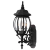 Portfolio 22-in Matte Black Outdoor Wall Light