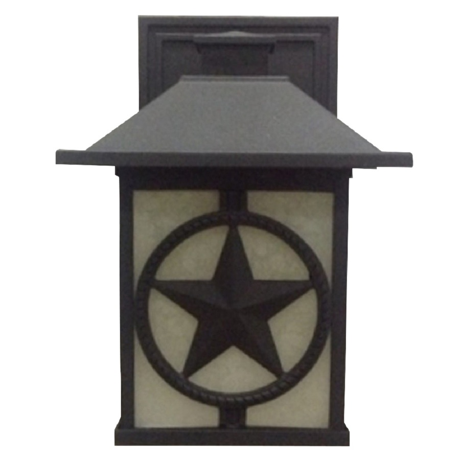 shop portfolio 14 8 in h black outdoor wall light at. Black Bedroom Furniture Sets. Home Design Ideas