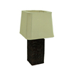 allen + roth 25-in Wicker Plug-In Incandescent Outdoor Table Lamp