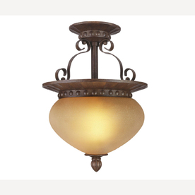 "Portfolio 1-Light 9-1/2"" Bronze Ceiling Semi-Flushmount"