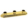 Portfolio 3-Light Vanity Polished Brass Bathroom Vanity Light