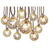 allen + roth 10.5-ft 10-Light White Tinted Glass-Shade Incandescent Plug-in Globe String Lights