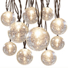 allen + roth 8.5-ft 10-Light White Crackle Glass Shade Incandescent Plug-in Globe String Lights