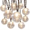 allen + roth 8.5-ft 10-Light White Crackle Glass Shade Incandescent Plug-in Globe String Lights