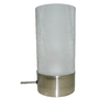 Portfolio 10-in Brushed Nickel Table Lamp with Cracked Ice Shade